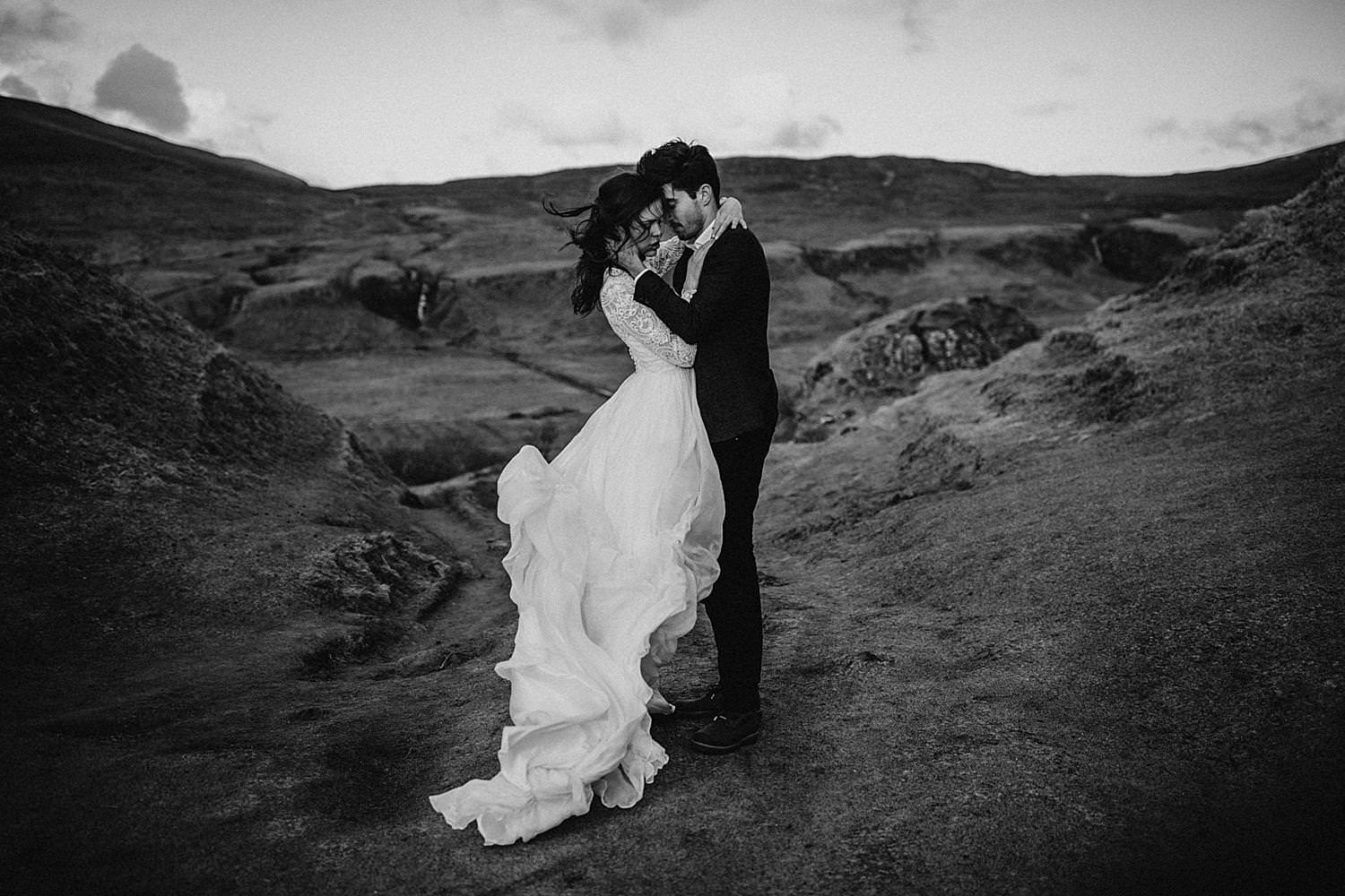 Wedding in hills Isle of Skye