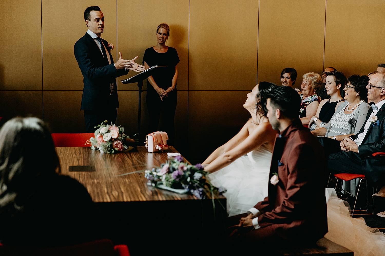 Stadhuis Lommel huwelijk speech familie