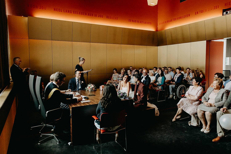Stadhuis Lommel huwelijk speech vriendin