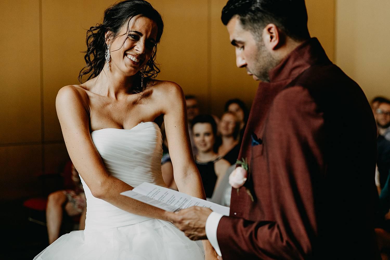 Stadhuis Lommel huwelijk ja-woord bruid emotioneel