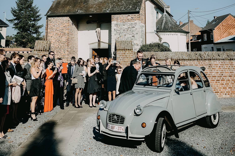 Citroën bruidswagen voor Sint-Dionysius