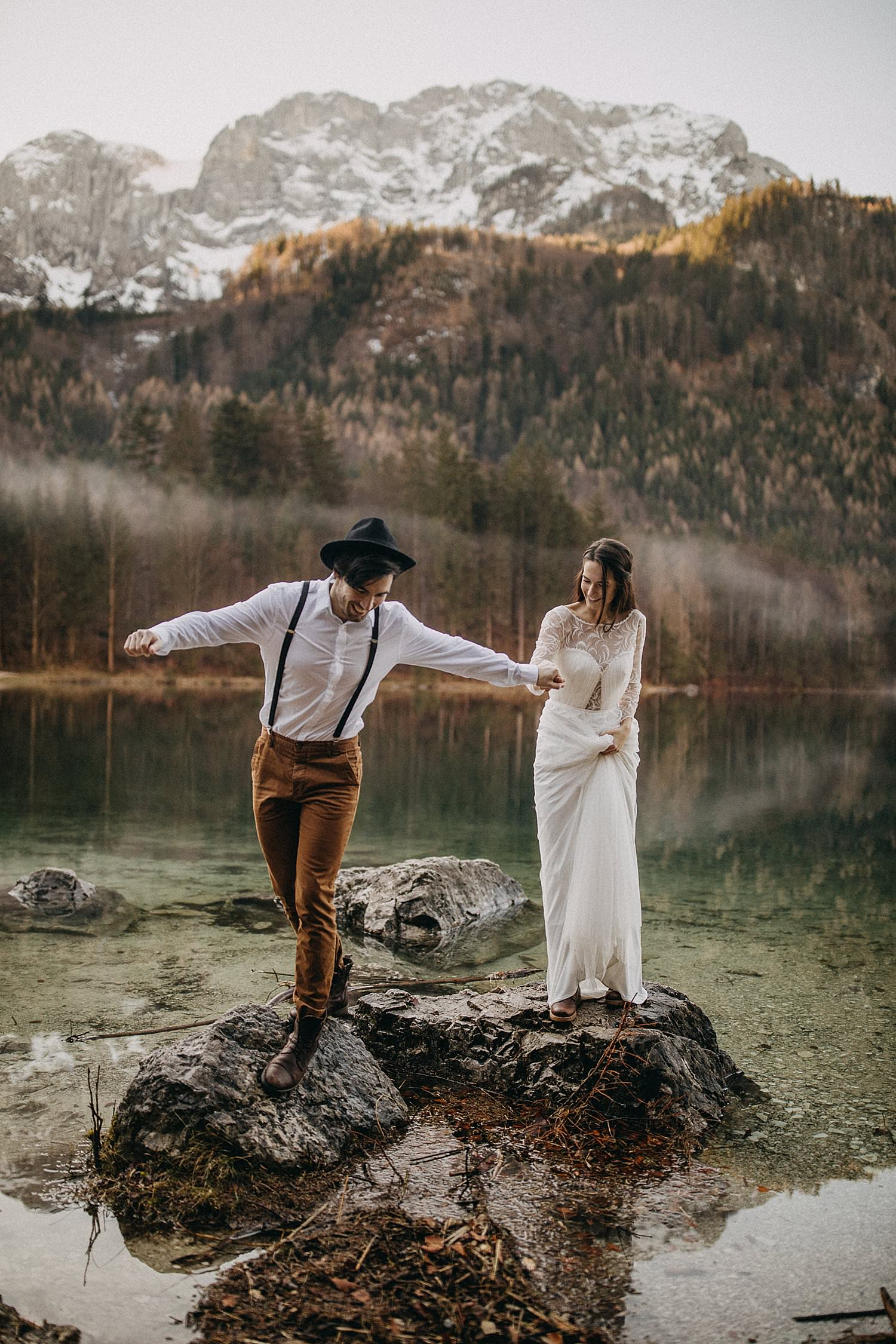 Destination wedding lake Ebensee