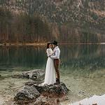 Austria lake wedding Langbathseen