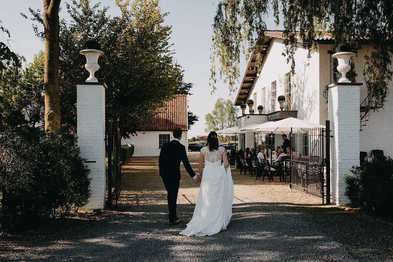 Hof ter Heulebeke bruidspaar intrede