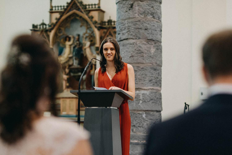 Kerk Gullegem huwelijk speech zuster