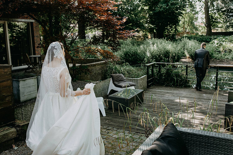 First look bruid bruidegom terras tuin Roosendaelhof Geel