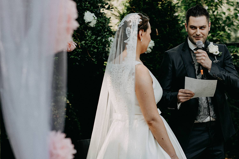 jawoord huwelijk buitenceremonie bruidegom
