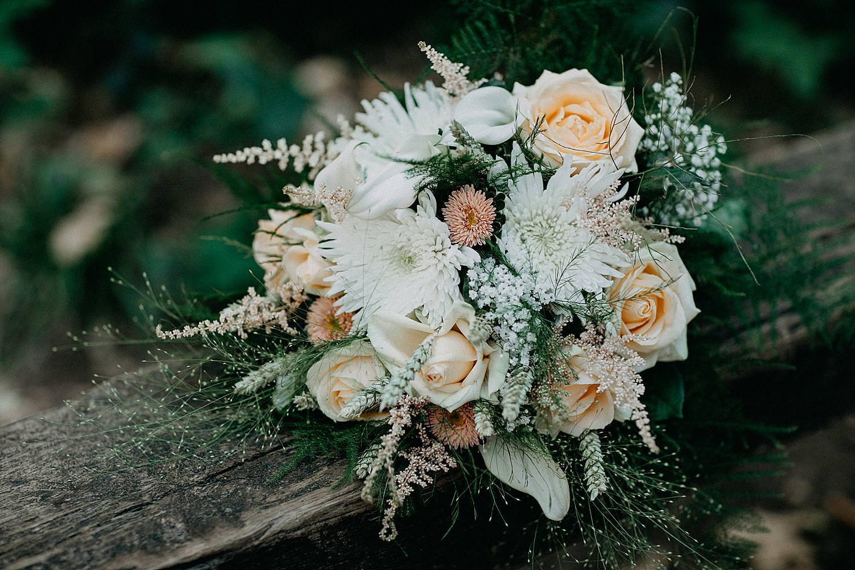 detail bruidsboeket bos Aywaille