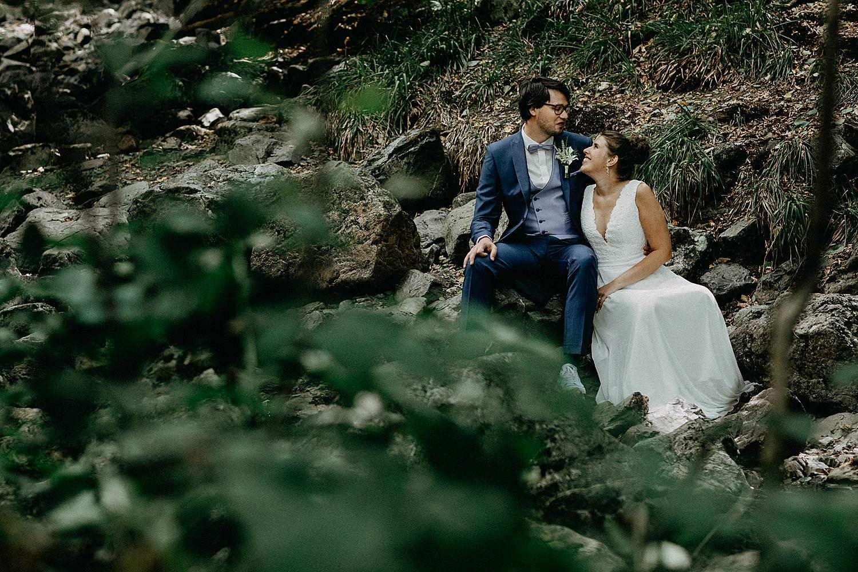 Ardennen huwelijksreportage bos