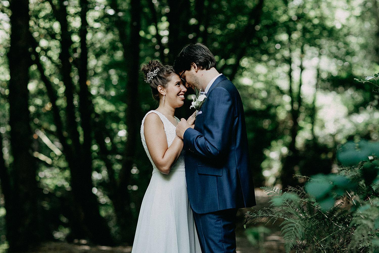 Ardennen huwelijksfotograaf bruidspaar Aywaille
