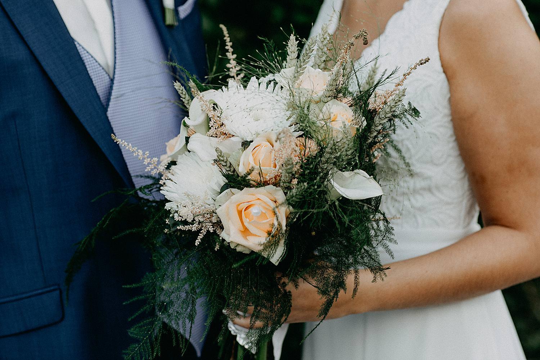 detail bruidsboeket huwelijk Ardennen