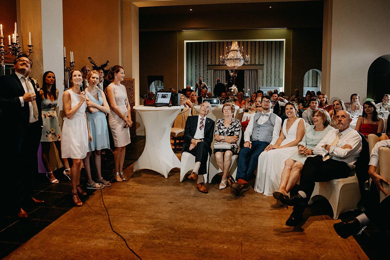 dia presentatie huwelijk feestzaal