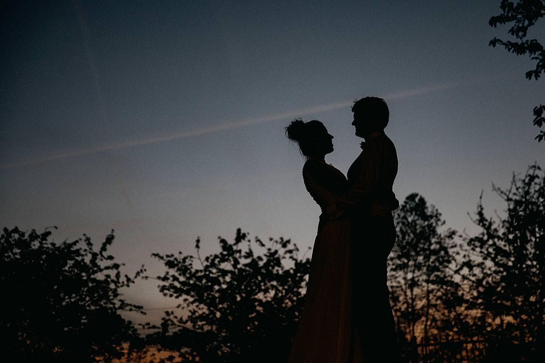 silhouet bruidspaar De Kleine Graaf Tongeren