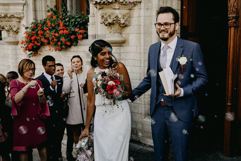 bruidspaar bellen blazen stadhuis Leuven