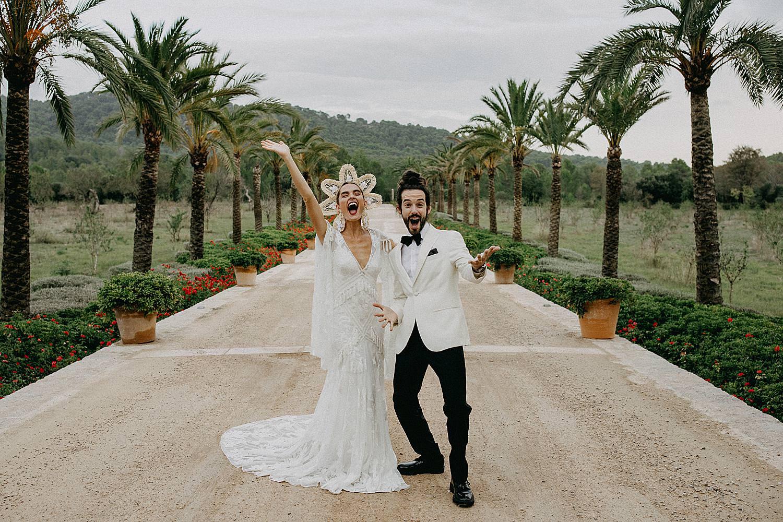 bruidspaar dreef Hotel Castell Son Claret