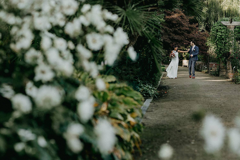 bruidspaar pad kruidtuin Leuven