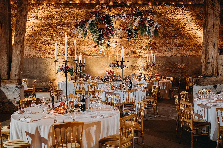 prachtig gedekte feesttafel feestzaal Monnikenhof huwelijk