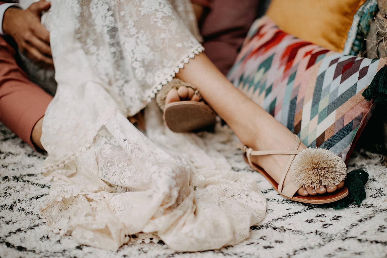 Detail schoenen bruid