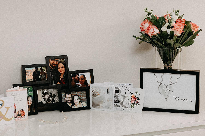 foto kaders op kast huweljk