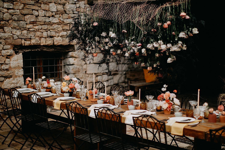 Feesttafel This must be the place Barcelona huwelijk