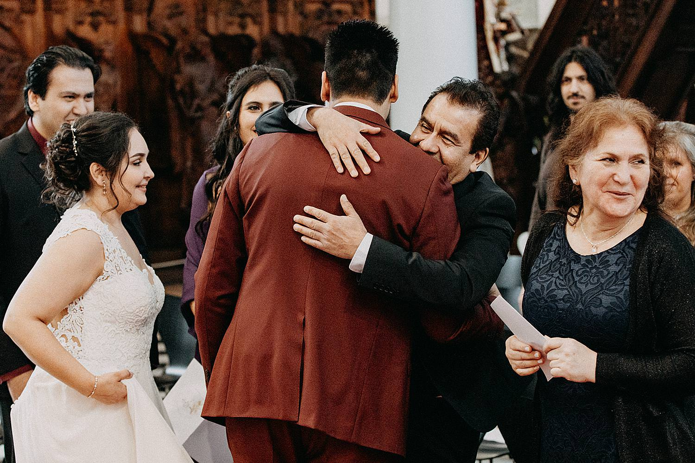 vader groet bruidegom Sint-Carolus Borromeuskerk