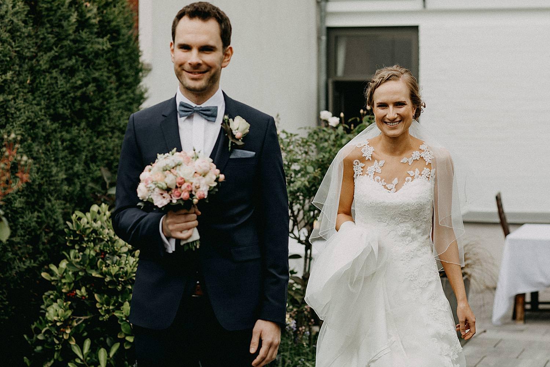 First look bruid bruidegom tuin Hasselt