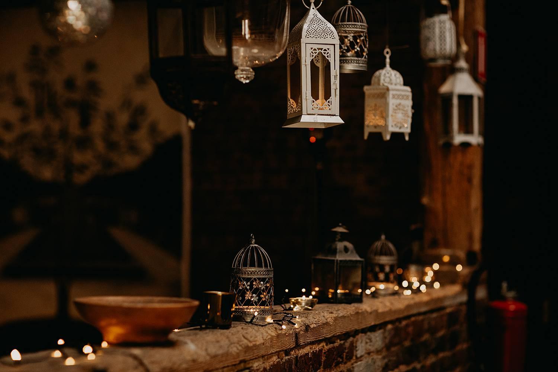 kaarsen decoratie schuur huis van Mihr