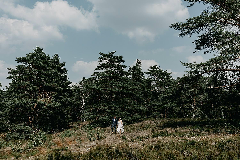 Bruidspaar in Landschap Schemmersberg Genk