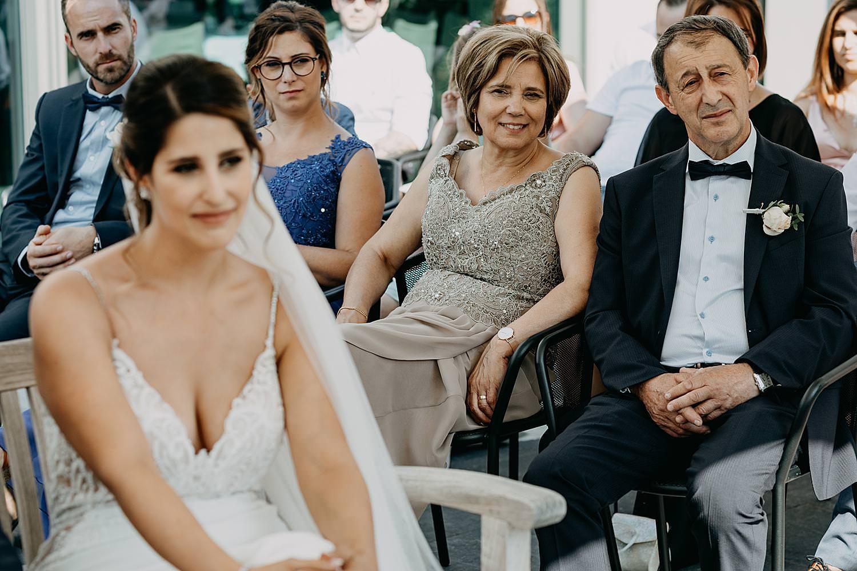 ouders buitenceremonie Rubenshof Alken huwelijk