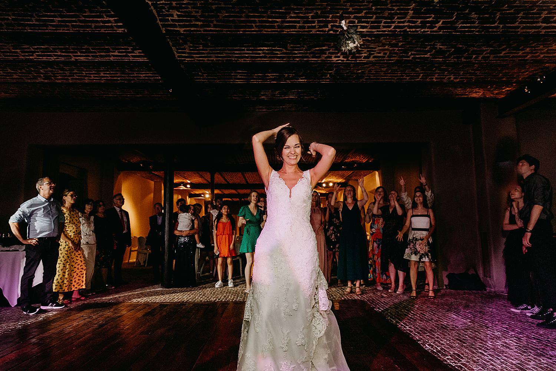 bruid tost bruidsboeket