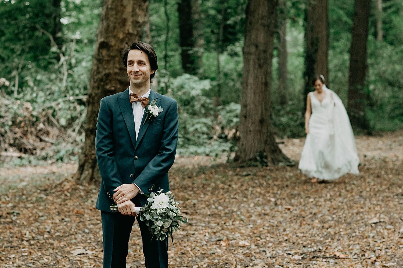 first look bruidspaar Kasteel van Duras