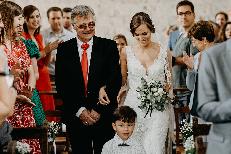 intrede vader en bruid Kerk Guvelingen