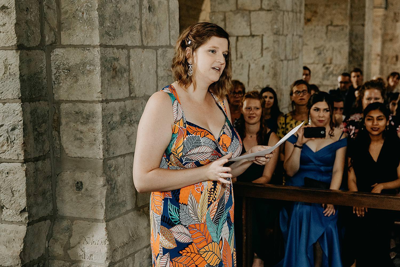 Vriendin speech kerk huwelijk