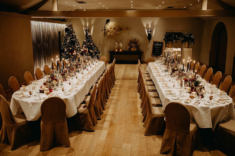 feestzaal aankleding winterhuwelijk La Butte aux Bois
