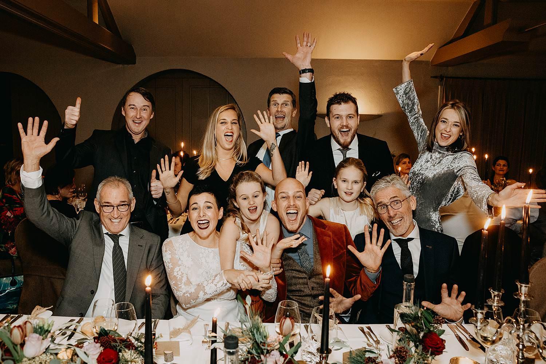 groepsfoto gasten eretafel