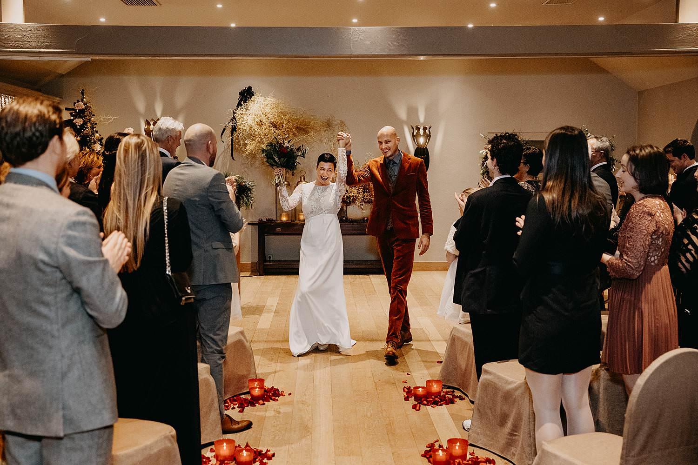 uittrede bruidspaar La Butte aux Bois
