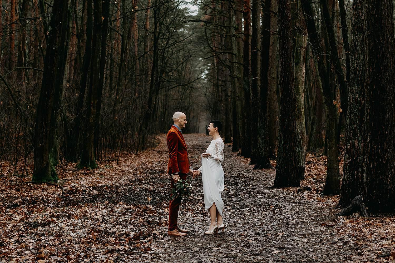 Fotoreportage bruidspaar La Butte aux Bois
