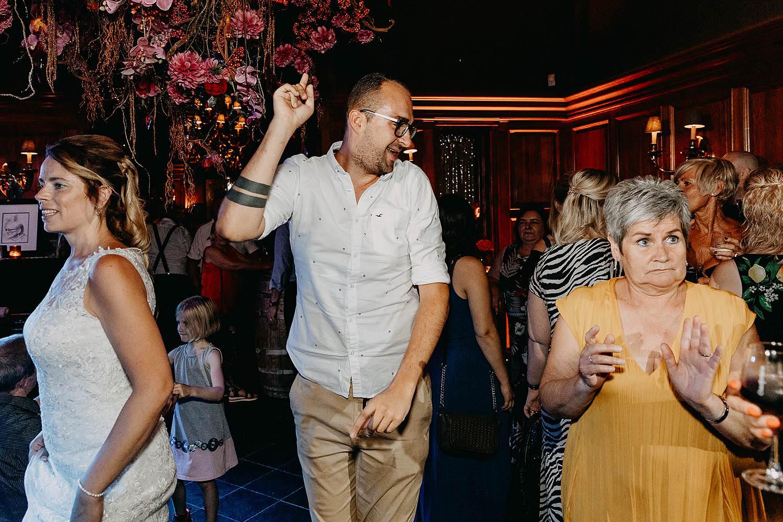Dansfeest huwelijk oud-Rekem