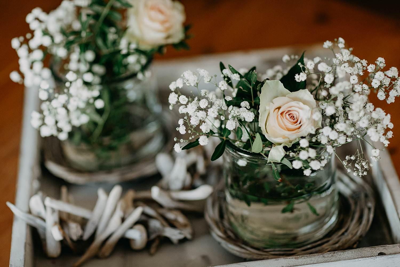 Aalbeke huwelijk details bloemen