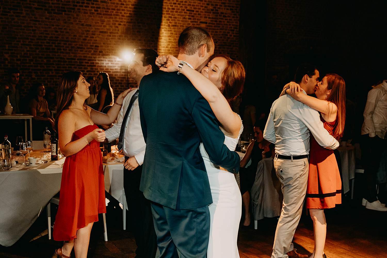 Abdij Herkenrode dansfeest bruidspaar kust