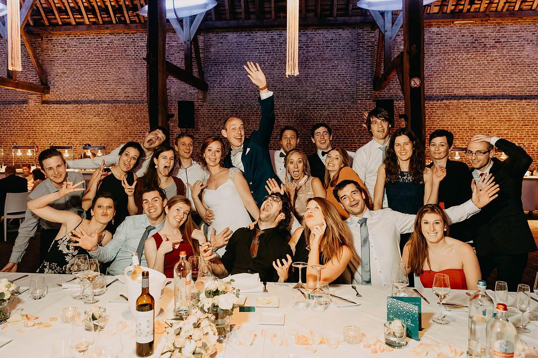 Abdij Herkenrode huwelijk groepsfoto eretafel