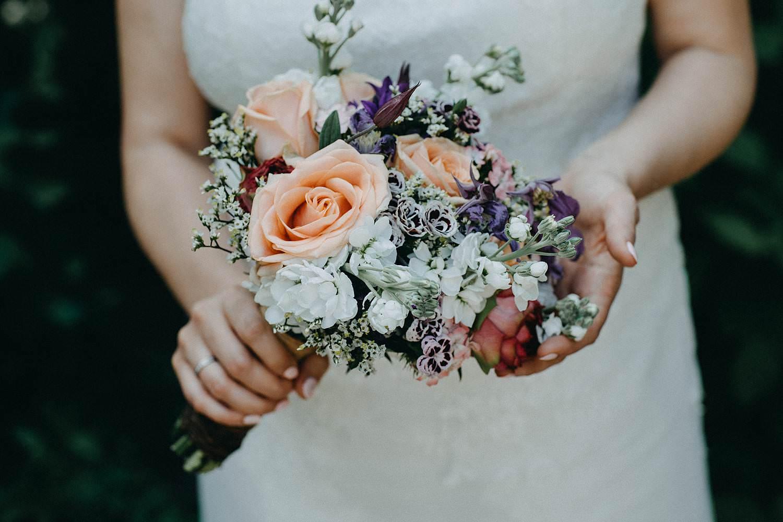 Alden Biesen bruidsboeket detail