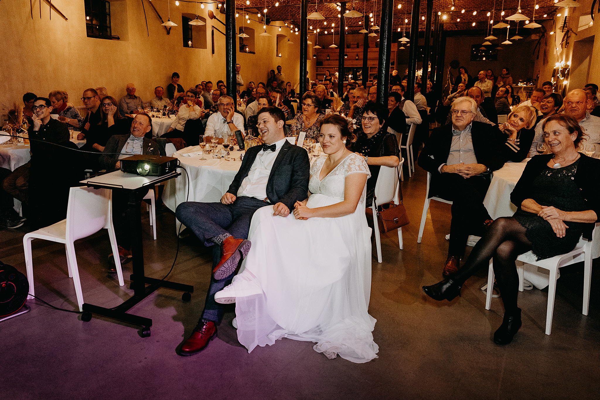 Aulnenhof bruidspaar presentatie vrienden