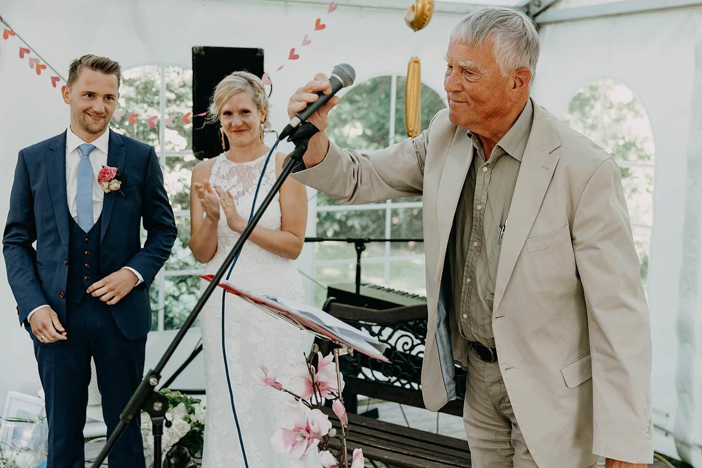 Binnenceremonie huwelijk speech familie