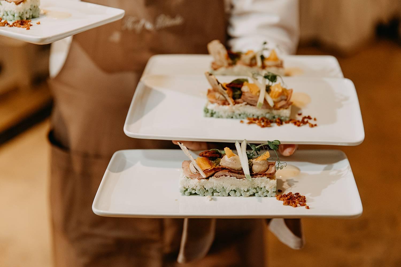 Serveren maaltijd huwelijk Hof te Rhode