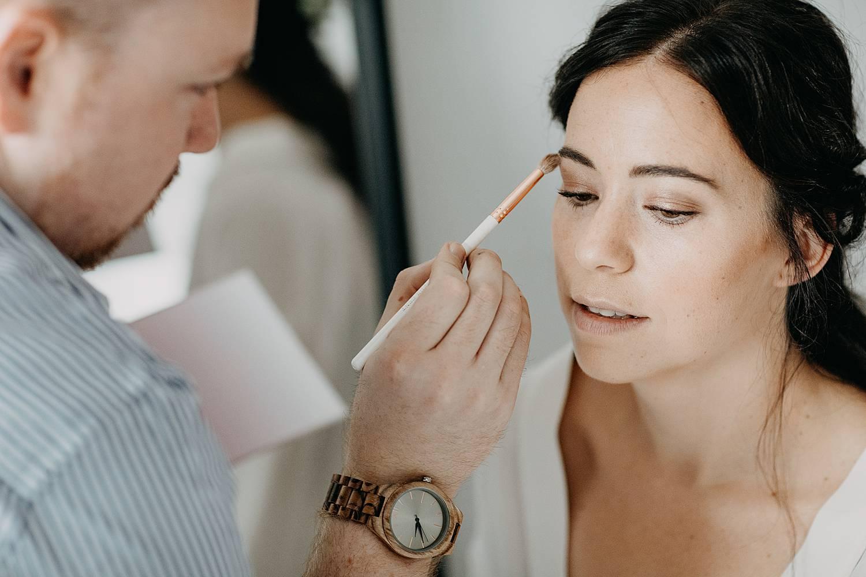 Bruid Herk De Stad aanbrengen make-up