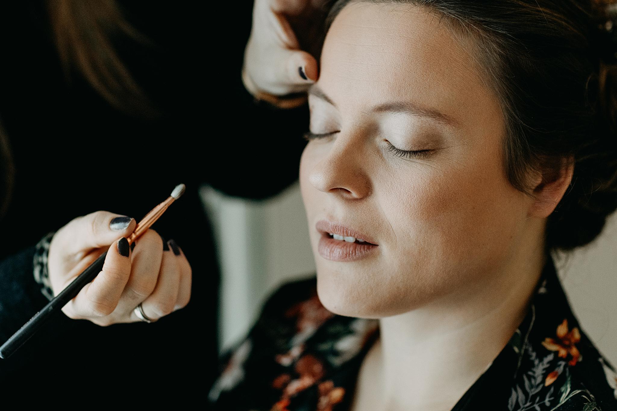Bruid voorbereiding aanbrengen make-up