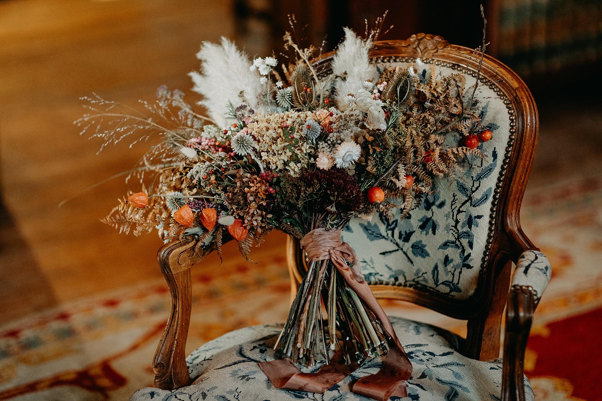 bruidsboeket in Kasteel van Oorbeek