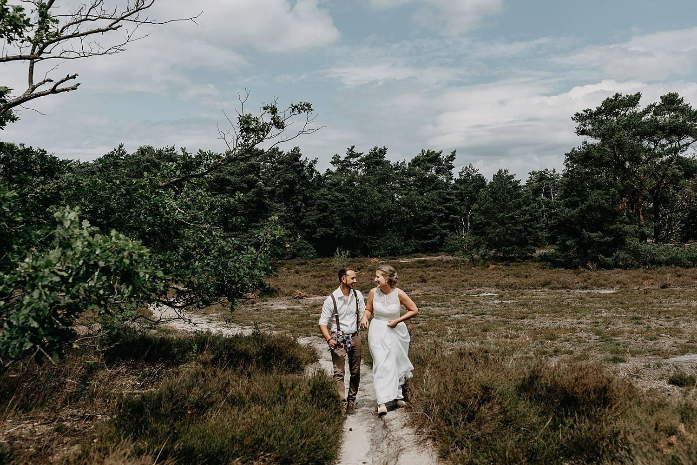bruidspaar buitenlocatie De Teut Zonhoven