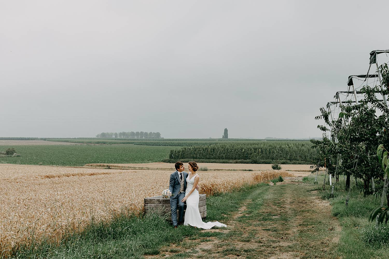 bruidspaar velden Zoutleeuw